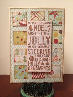 Pennants and Pinwheels: Define Obsession--Christmas Inchie Cards