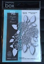Memory Box English Rose Bouquet 100% Steel Craft Die 99139 New/Sealed