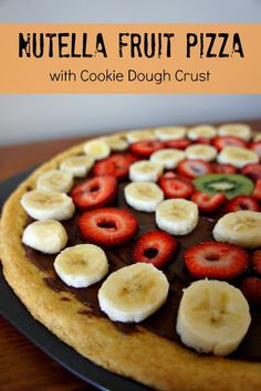 Nutella Fruit Pizza with Cookie Dough Crust