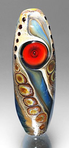 Lampwork+Bead+Baleen+with+Red+Eye+by+michaelbarley+on+Etsy,+$60.00