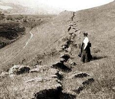 """In 1906, a massive magnitude 7.9 earthquake ruptured the entire San Andreas Fault in Northern California."" (http://www.pbs.org/newshour/indepth_coverage/science/1906quake/ss_1.html)"