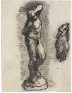Vincent van Gogh Drawing, Black chalk Paris: 1887 Van Gogh Museum Amsterdam, The Netherlands, Europe F: 1363cv, JH: 1079 Image Only - Van Gogh: Young Slave