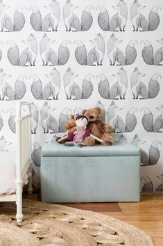 Inspired by old historic, vintage art and decor our Mr. Fox Wallpaper will make a great addition to your children's nursey or play room. #shopthelook #ad #vintage #boho #anewall #walldecor #wallpaper #ideas #inspo #minimalist #goals #shopstyle #kidsroom #girl #boy #genderneutral #baby #toddler #fox #modernboho #modern #traditional #contemporary