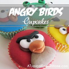 A Typical English Home: Angry Bird Cupcakes