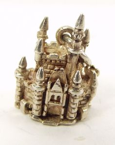 Vintage Silver Charm Cinderella's Castle Opens Mouse