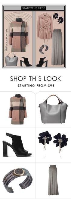 """""""Etro Checked Coat"""" by affton ❤ liked on Polyvore featuring Etro, Michael Kors and Lanvin"""