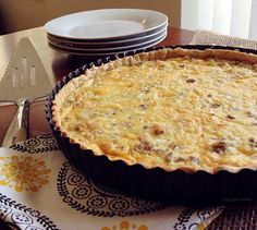 Sausage Egg and Cheese Quiche Tart from This Gal Cooks. #brunch #breakfast #quiche
