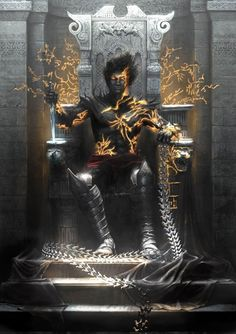 Dark Prince on Throne