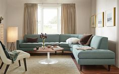 Reese Curved Sectional Room - Living - Room & Board - Super retro yet cozy
