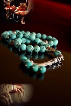 Komboloi with Howlite Turquoise