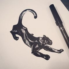 : Black leopard . #tattoo #tattooistdoy #inkedwall #design #drawing #타투 #타투이스트도이
