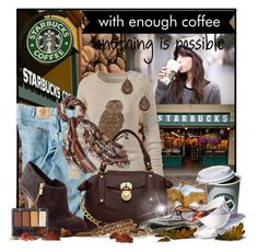 """Smellin' Coffee"" by doozer ❤ liked on Polyvore featuring Dickies, Fat Face, MICHAEL Michael Kors, Coffee Shop, Merona, Blu Bijoux and Oscar de la Renta"