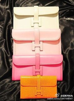 Pastel Hermes Clutches