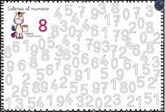 Fichas para trabajar los números 0 al 9 - Imagenes Educativas