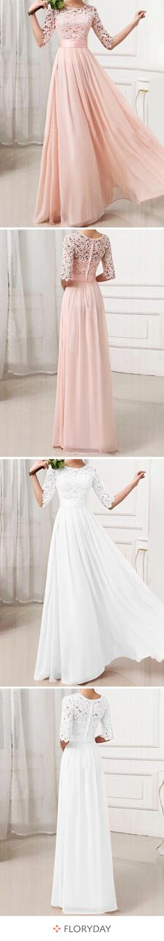 Maxi dress with half-length sleeves- Maxikleid mit halblangen Ärmel Best party dress! Best Party Dresses, Prom Dresses, Formal Dresses, Wedding Dresses, Cute Outfits With Jeans, Casual Fall Outfits, Maxi Dress With Sleeves, The Dress, Leather Leggings Look