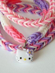 Hello kitty rainbow loom charm
