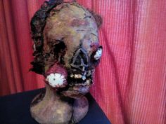 Zombie Head by GillyGillyGypsy on Etsy