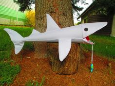 Schultüte Hai vichy grau von lisifrey auf DaWanda.com