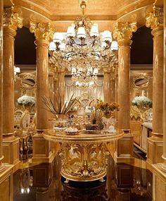 A stunning Empire style foyer center table, handmade in Europe from our exclusive empire collection. Luxury Homes Interior, Home Interior Design, Mansion Interior, Interior Design And Construction, Glam House, Dream Shower, Living Room Decor Cozy, Luxury Dining Room, Dream House Exterior
