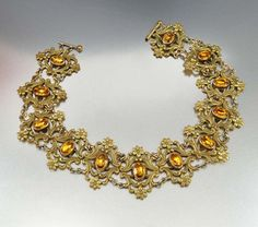 Antique Art Nouveau Collar Necklace  http://bit.ly/1CH6gOk $195