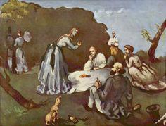 Поль Сезанн Завтрак на траве. 1869г                                         Холст, масло 60x81 см .Частное собрание .