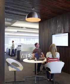 Advisory office space board break area in Austin, TX