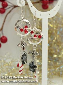 If you're rushing around to make holiday plans, you may want to save some time with DIY Christmas gift ideas. The Wire Wrapped Christmas Candy Earrings are the perfect solution for anyone who likes to look fabulous while indulging in holiday fashion.