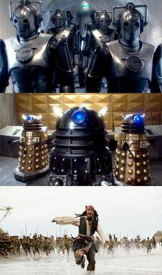 Daleks and Cybermen? WTF
