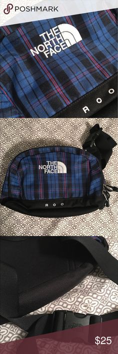 The North Face Roo This is in brand new condition, absolutely nothing wrong with this. If you love adventuring, then this North Face Roo is the perfect bag to take with you. It's very spacious and has an adjustable strap. The North Face Bags