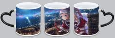 Anime Christmas Girl coffee cup exclusive to your gift. Hot water display picture effect. Add hot water display picture.