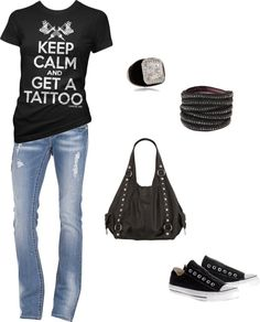 """Keep Calm and Get a Tattoo"" by mmessenger on Polyvore"