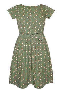 Run and Fly Green Flying Ducks Dress