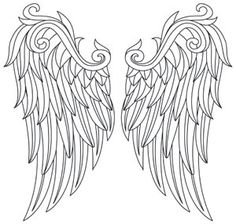 Embroider these wings in rich golden thread (or any other color you like) to create fanciful garb, everyday fashions, and stunning decor! Downloads as a PDF. Use pattern transfer paper to trace design for hand-stitching.