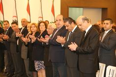 """NNA - """"Lebanese Forces"""" chief, Samir Geagea stressed that """"nothing will rescue us at this stage except the Lebanese solidarity"""". Geagea w Stage"""