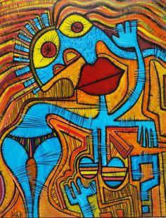 La baigneuse (Peinture),  90x115 cm par Olivier PIOCH