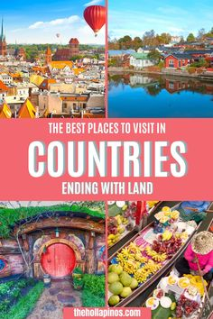 Are you ready for a different kind of travel bucket list this 2020? Get free travel guides and tips to the countries ending with land. An ultimate list of the best travel spots in countries ending with land - top countries to visit bucket lists. #traveldestinations #placestotravel Beautiful Vacation Spots, Dream Vacation Spots, Beautiful Places In The World, Beautiful Places To Visit, Cool Places To Visit, Top Places To Travel, Top Travel Destinations, Top Countries To Visit, Tourist Spots
