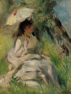 PIERRE-AUGUSTE RENOIR (1841-1919) - JEUNE FEMME A L'OMBRELLE