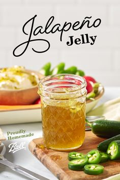 Sweet and spicy is one of our favorite flavor combinations and Ball®'s Jalapeño Jelly captures both of those flavors perfectly. This zesty recipe works great spread on a block of warmed cream cheese and served with crackers. Jalapeno Recipes, Jelly Recipes, Jam Recipes, Canning Recipes, Mexican Food Recipes, Canning Tips, Cooker Recipes, Recipies, Sandwiches