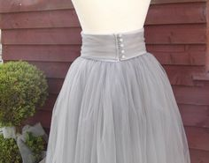 Tulle Net Skirt with detachable button & by VintageBridalbyCarol, £99.00