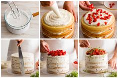 Strawberry & Thyme Celebration Cake | Cake Recipes - at Bakers' Corner