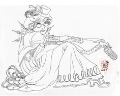 Steampunk Lady Coloring Page From Category Select 25960 Printable Crafts Of Cartoons Nature Animals Bible And Many More