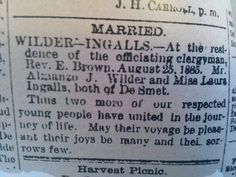 Laura and Almanzo Marry