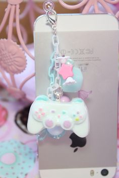 Fairy Kei Game Controller Headphone Jack Phone Charm - $14.00