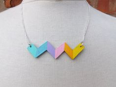 Hey, I found this really awesome Etsy listing at https://www.etsy.com/uk/listing/287098995/colour-wave-bib-necklacerainbow-zigzag