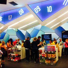 World duty free counters at Palma de Mallorca airport