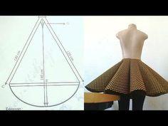 New Skirt Pattern Circle Diy Fashion Ideas Skirt Patterns Sewing, Clothing Patterns, Pattern Sewing, Pattern Drafting, Coat Patterns, Blouse Patterns, Look Fashion, Diy Fashion, Fashion Clothes