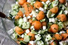 Minty Cucumber and Cantaloupe Salad recipe on PBS Food