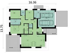 DOM.PL™ - Projekt domu PJK Ka34 CE - DOM GW1-42 - gotowy koszt budowy Dom, Floor Plans, House, Home, Homes, Floor Plan Drawing, Houses, House Floor Plans
