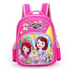717e2ced4e Top Quality 2016 New Cute Sofia Girl Schoolbag Cartoon Princess Children  School Bags For Girls Baby School Backpacks