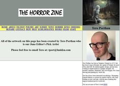 Tero Porthan's art featured in the June 2019 issue of The Horror Zine. Tero Porthan is the Editor's Pick Artist for June! My Art in The Horror Zine Congratulations To You, Poetry Art, Zine, Witches, Mythology, Horror, Fiction, My Arts, Artwork